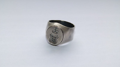 Korczak coat of arms ring / signet - SILVER