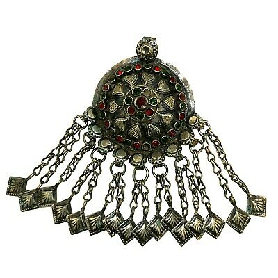 (2377) Antique breast pendent. Afghanistan