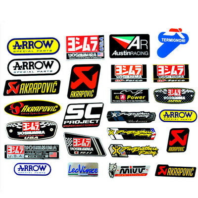 3D Aluminum Motorcycle Exhaust Pipe Decal Sticker for Arrow Yoshimura SC MIVV