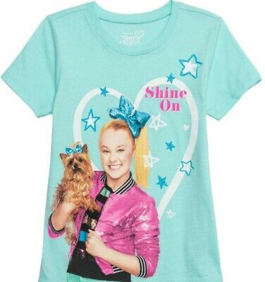 JoJo Siwa and Bow Bow Nickelodeon Glitter Shine On Girl's T-Shirt - XS-XL - NWT