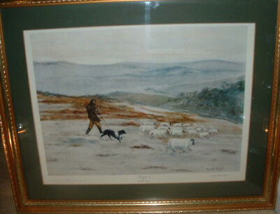 Oil painting by Kenneth Ansell - 'Bringing In'. Limited prints No 83/850
