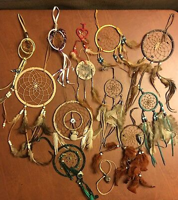 Lot Of 12 Dream Catchers In Variety Of Colors And Styles