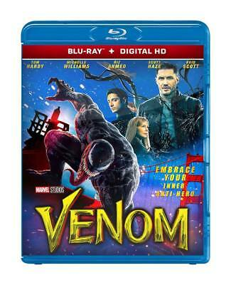 VENOM 2018 (BLU-RAY + DIGITAL HD DISC) Tom Hardy - REGION FREE
