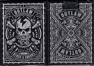 Outlaw Playing Cards Poker Size Deck USPCC Custom Limited Edition New Sealed