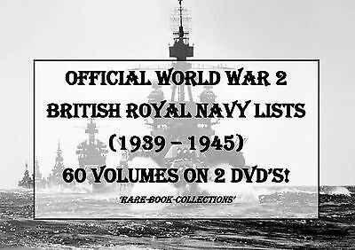 World War 2 British Royal Navy Military Lists - Dvd - Ww2 Medal Research History