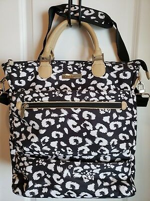 Anne klein luggage /carry on bag. black & white. computer pouch. Shoulder strap.