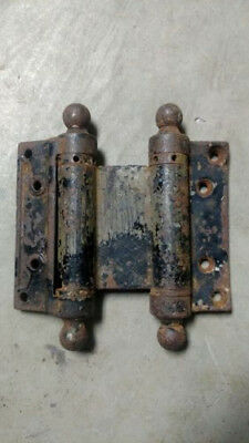 "Antique Vintage Bommer's 4"" Spring Loaded Saloon Double Action Swing Hinges"