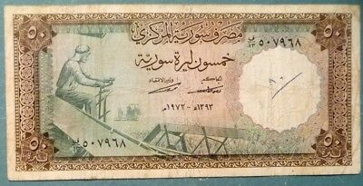 SYRIA 50 POUNDS NOTE FROM 1973, P 97 b