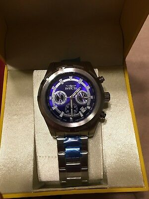 Invicta Specialty 1560 Men's Analog Round Blue Chronograph Date Stainless Watch