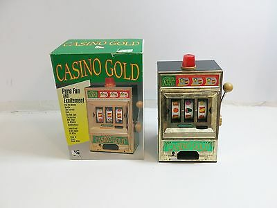 """Vintage Waco Of Japan Battery Operated Slot Machine Toy 12"""" Tall With Box 7120"""