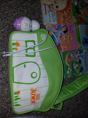 LeapFrog Tag Junior Jr Violet Leap Reader Learning System + USB Cable + 7 Books