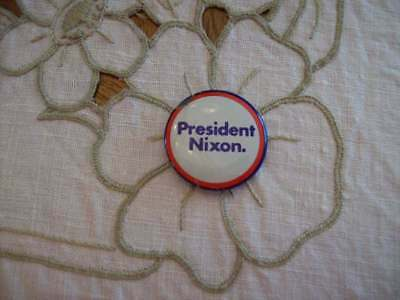 "Vintage Red White Blue ""president Nixon"" Political Campaign Pin Pinback Button"