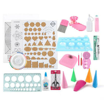 1 Set Paper Quilling Tools Kit Beginner DIY Tool Quilling Paper Craft Mould Use