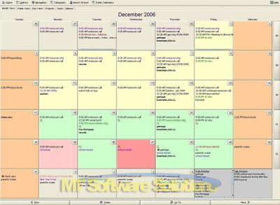Calendar and Task Tracking System Tracker Software