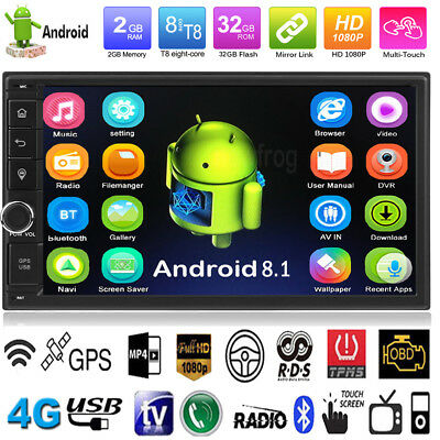 """2 DIN 7"""" Car MP5 Player Octa-core Android 8.1 BT Stereo Radio GPS 4G Wifi 2+32GB"""