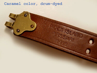 ULTRA-PREMIUM Sling M1907 ROCK ISLAND 1918 repro drum dyed  WWI STYLE (1)