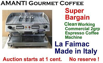 Clean Working La Faimac 2grp Commercial Espresso Coffee Machine + AMANTI Bonus