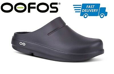 🇺🇸OOFOS OOCLOOG Black Matte Recovery Footwear Clog Impact Absorption NEW