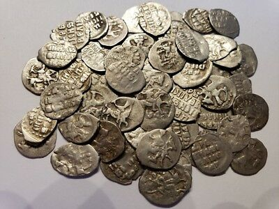 (5) 1533-1584 Silver Denga Coins Russia Ivan IV 'The Terrible' Medieval Ancient