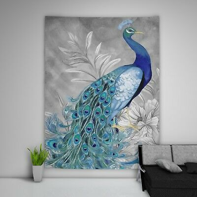 Painting Peacock Tapestry Art Wall Hanging Sofa Table Bed Cover Home Decor