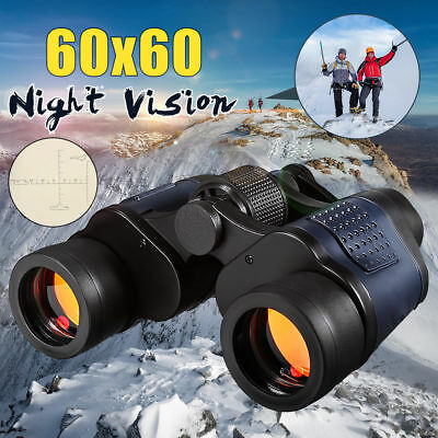 60x60 HD Binoculars Day&Night Vision Military Army Zoom Optics Hunting Camping
