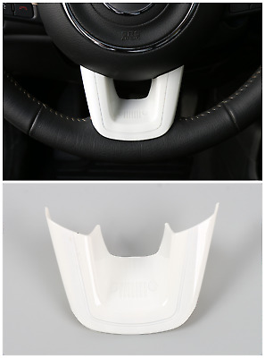 White ABS Car Steering Wheel U-Shaped Cover Trim Frame For Jeep Compass 2017-18