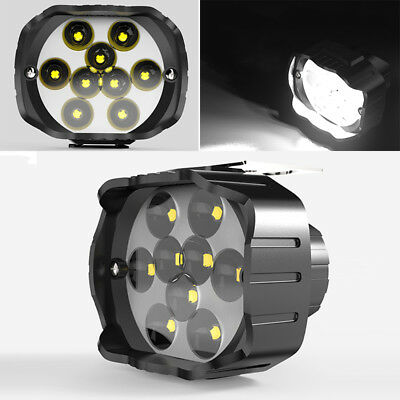 1x 9LED Bright ATV Quad Bike Headlight Spot Light Work Fog Driving Lamp 12-85V