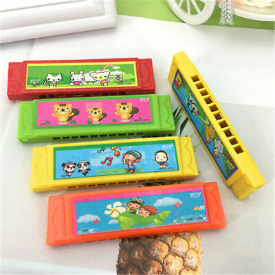 Kids Cartoon Plastic Harmonica Toy Fun Musical Early Educational Gift Toy FB