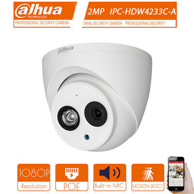 Dahua 1080P 2Mp Poe Ipc-Hdw4233C-A Built-In Audio Record Security Dome Camera