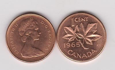 1965 Canada - 1 Cent BU - Large Beads Blunt 5