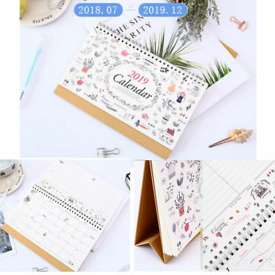 2019 Desktop Calendar Month To View  Desk Creative Calendar Table Calendar List