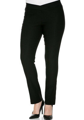 8f07bcc6613 Women s Junior Plus Size Stretch Skinny Pants V-Front Elastic Waist  Straight Leg
