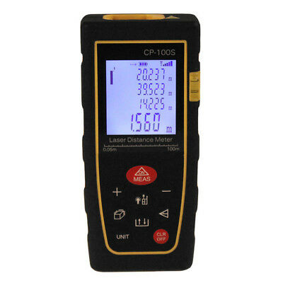 100M/328FT Portable Digital LCD Laser Distance Meter Range Finder Tools Kit