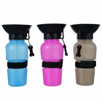 Pet Dog Cat Portable Plastic Feeding-Bowl Travel Water Bottle Dispenser Feeder