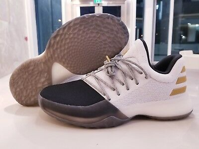 cf28a781a9d Adidas James Harden Vol 1 White Black Gold Basketball Shoes SZ ( BY3481 )