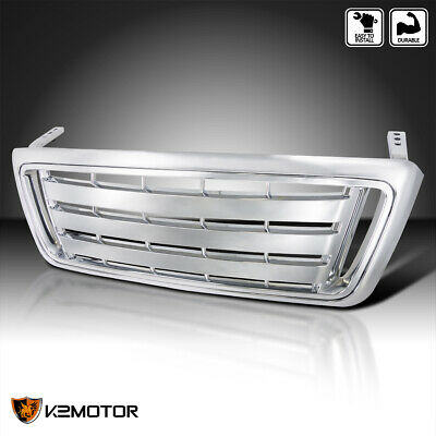 2004-2008 Ford F150 1PC Chrome ABS Front Upper Bumper Hood Grill Grille Cover