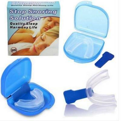 Anti Snore Stopper Mouth piece Guard Stop Snoring Silicone Tray Nose Clip 2018