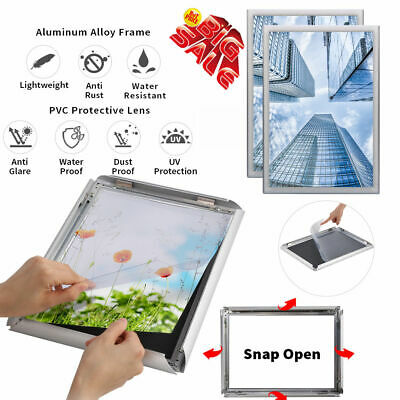 A4 Aluminum Snap Poster Picture Frames 2-Pack Notice Boards Display Waterproof