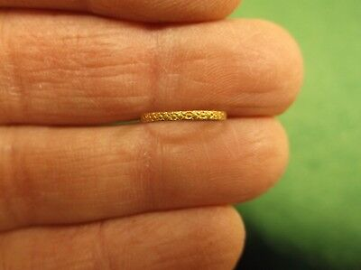 Beautiful Little Old Vtg Antique Art Nouveau 10K Yellow Gold (Flowers) Baby Ring