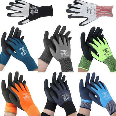 Coldproof Work Gloves Double Layer Latex Coated Protection Water-Resistant E6J8