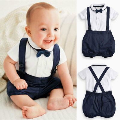 3pcs Newborn Toddler Infant Kids Baby Boy Clothes T-shirt Tops+Pants Outfits Set