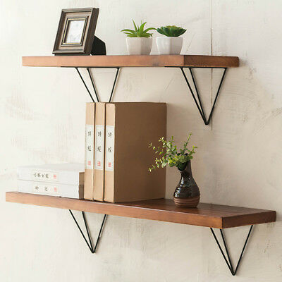 Durable Hairpin Bookcases Support Industrial Wall Shelf Bracket Metal Mount 2PCS