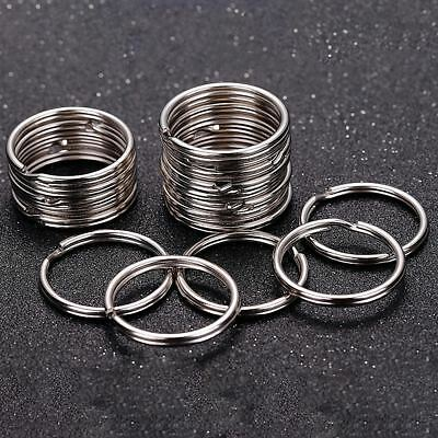 Pack 5 Key Rings-15mm/20mm/25mm Split Rings Double Loop Steel Keyrings Jump Ring