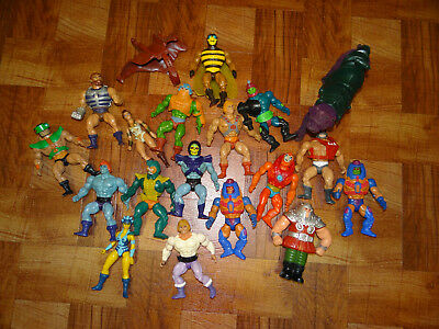 He-Man Masters Of The Universe Lot Of 18 Figures MOTU Vintage