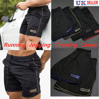 Mens Football Shorts Jogging Running Gym Sports Breathable Fitness Size M - 3XL
