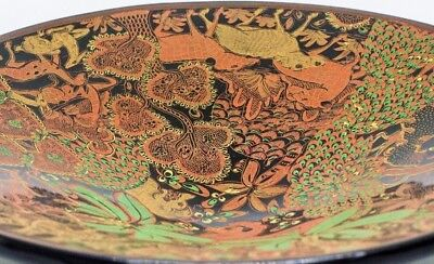 Burmese Hand painted Lacquerware Handmade Vintage Style Fruit Bowl