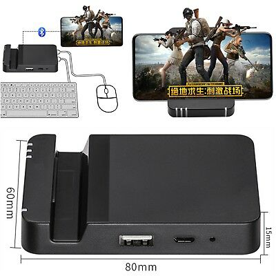 PUBG MOBILE GAMING Dock Mouse Keyboard Converter Adapter For Phone Android  5 0