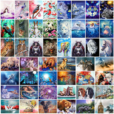 40*50cm Animal DIY Paint By Numbers Kit Digital Oil Painting Art Home Wall Decor