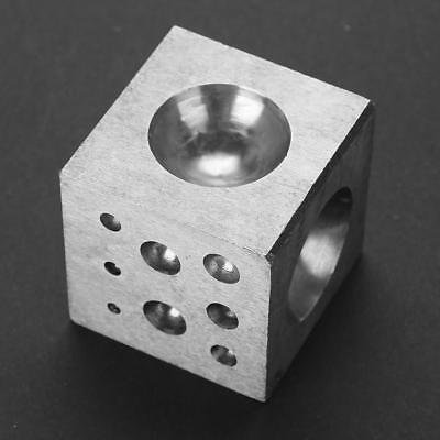 Dapping Punch Tool Steel Forming Block & Punches 50mm Doming Jewelry Bell Making