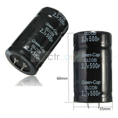 2.7V 500F 35*60MM Farad Capacitor with 16V 83F Two Feet Super Capacitor black